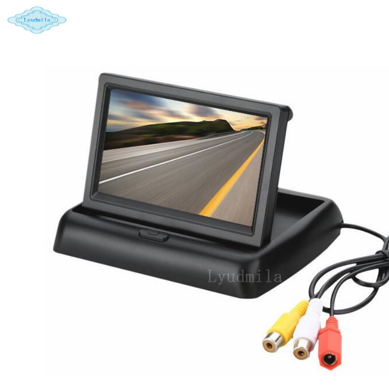 4 3 inch Foldable Car Rear View Monitor Reversing Color LCD TFT Display Screen For Vehicle