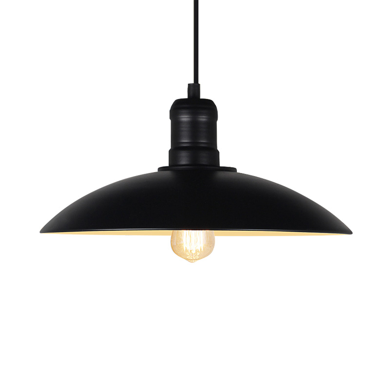 Vintage pendant lights industrial style metal lamp shades for home lights kitchen lamp dining room lights Edison E27 holder edison inustrial loft vintage amber glass basin pendant lights lamp for cafe bar hall bedroom club dining room droplight decor