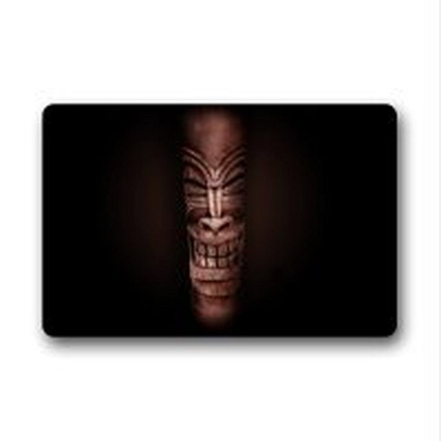 Classic Tiki God Polyester Door / Outdoor Doormat Door Mat 18 X 30 Inch  Bathroom Kitchen