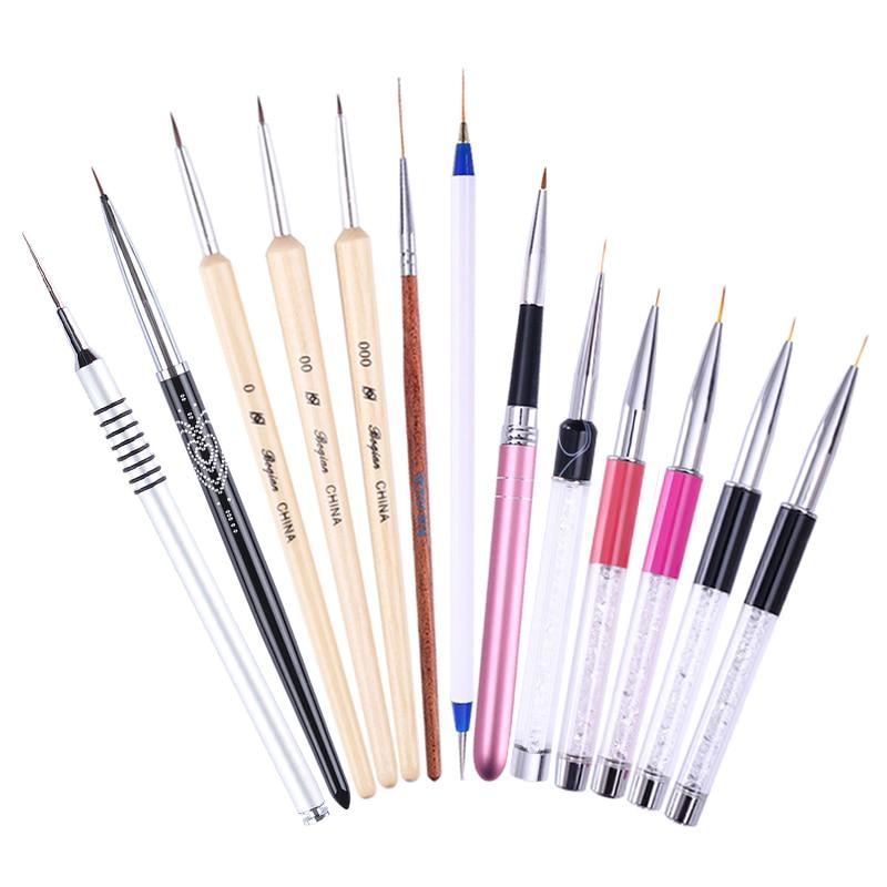 Single Line Nail Art : Pc uv gel nail art liner brush mm painting drawing
