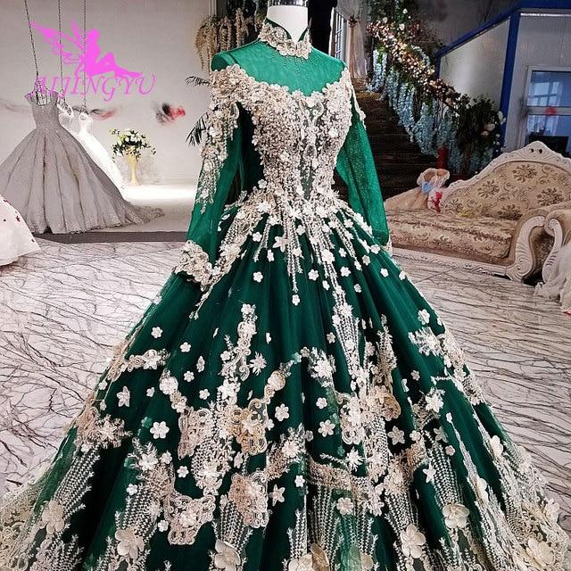 AIJINGYU Hochzeit Kleider 2021 2020 Kleid Luxus Moderne Mit Ärmeln Amerika Spitze Brautkleider Für Verkauf engagement Hochzeit Kleid