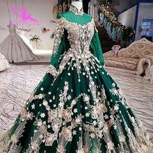 Vestidos de novia AIJINGYU 2021 2020, vestido moderno de lujo con mangas, vestidos de novia de encaje de América a la venta, vestido de boda de compromiso