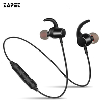 ZAPET Magnet Switch Sport In Ear Bluetooth Earphone Waterproof Earpiece Bass Stereo Handsfree Wireless Headphone With
