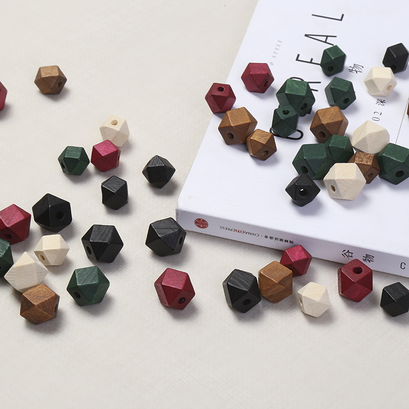 10pcs 20mm Gold And Silver Wooden Cube Unfinished Geometric Beads For Jewelry Making Necklace Diy Teething Jewelry Bead Jewelry & Accessories Beads & Jewelry Making