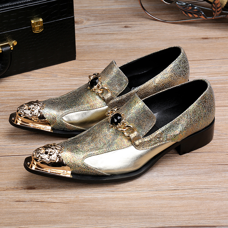 zobairou 2017 casual formal shoes for gold tip