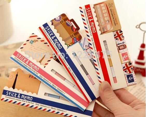 1pcs/lot Vintage London Paris sticky note notepad Post it stickers Memo marker paper fashion gift zakka office School supplies 100pcs transparent color plastic index tabs flag sticky note instruct page mark stickers post label office papelaria supplies