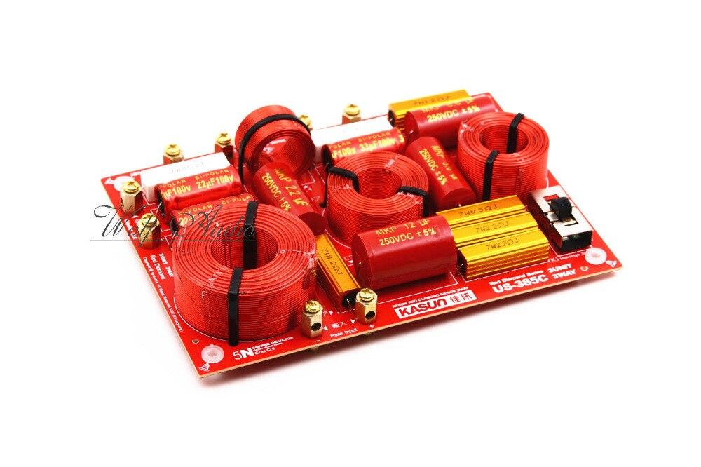 US-385C HiFi 3 voies haut-parleur séparateur de fréquence Tweeter/médiums/Woofer réseau croisé