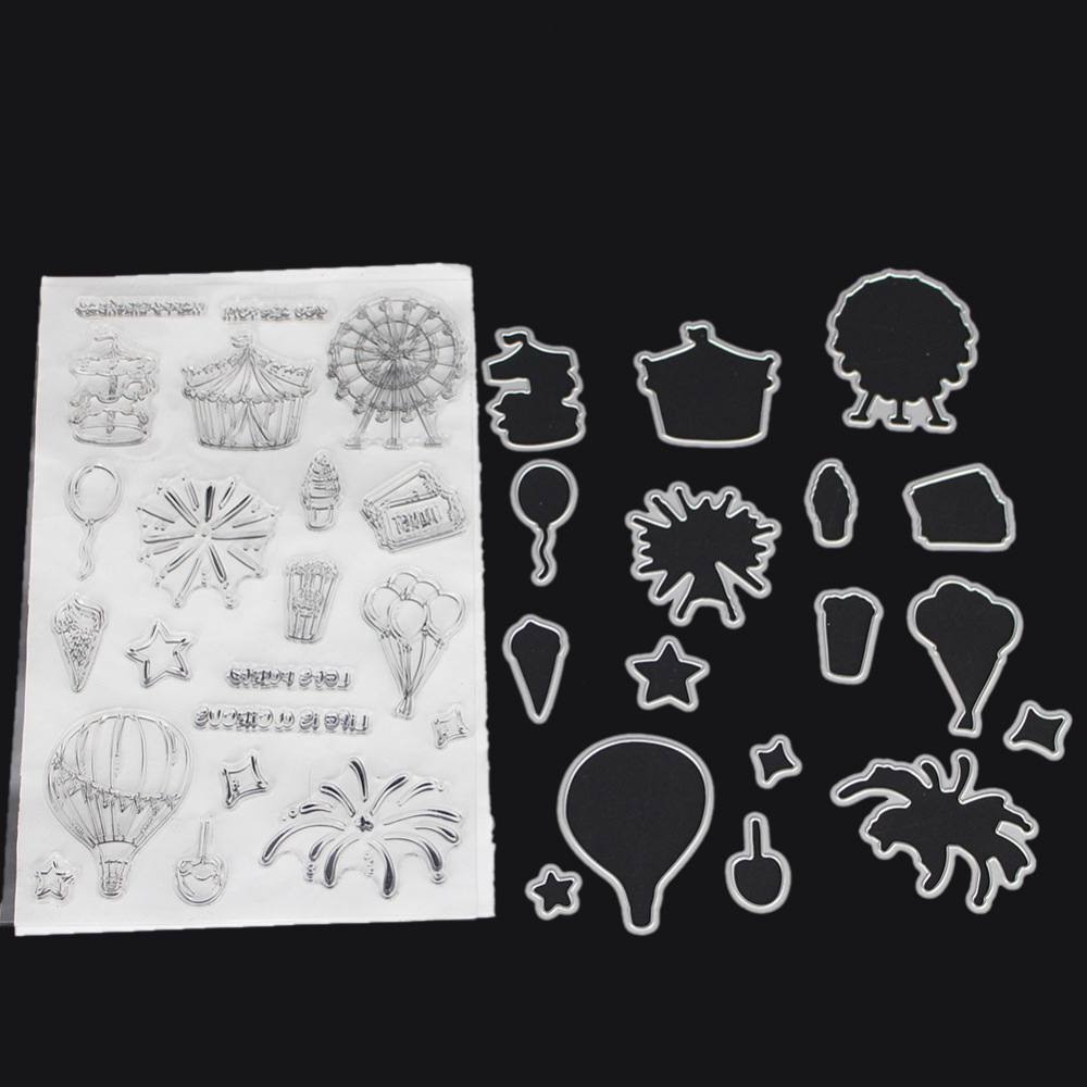 Playground Series Metal Cutting Dies stamps Set DIY Scrapbooking Card Stencil Paper Craft Cut Die Album Decorate Dies Cut Stamp brooklyn bridge landmark building 3d pop up greeting card laser cutting dies envelope hollow carved handmade kirigami gifts