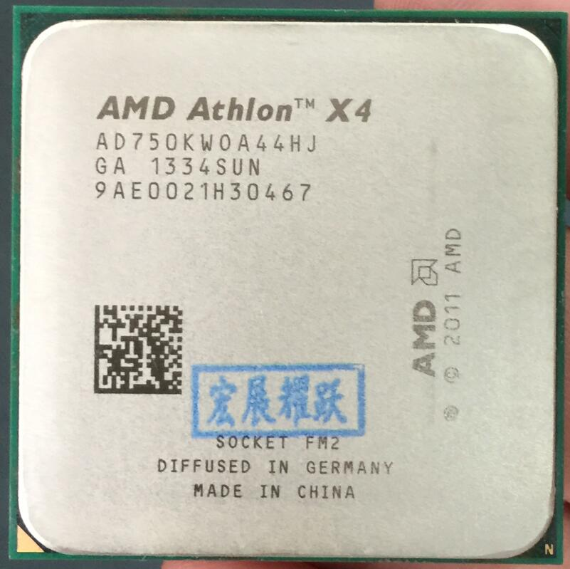 AMD Athlon X4 750K  X750K  750K FM2 Quad-Core CPU  100% Working Properly Desktop Processor