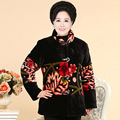 Inverno novas mulheres de meia idade mãe avó casaco grandes estaleiros de vestido de veludo grosso traje PB19049-1944