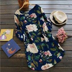 Czeski Boho Sukienka O Neck kwiatowy Print Sukienka z długim rękawem Plus rozmiar Vestidos Mujer Verano 2019 na co dzień Sukienka Lato Xxxl xxxxl 4