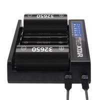 Премиум Смарт быстро шесть слотов универсальный высокое качество Батарея Зарядное устройство для Перезаряжаемые литиевых Батарея
