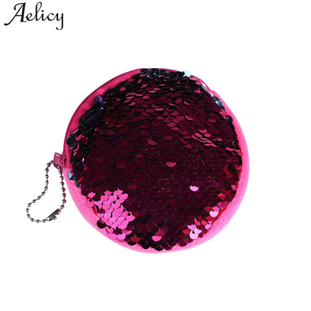 Aelicy Womens Purses and Ladies Handbags Fashion Double Color Sequins Bag Coin Purse Women Small Ladies Purse Pouch Carteira