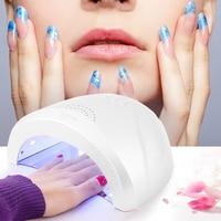 Abody 24 48W UV Lamp Nail Polish Dryer LED White Light 5S 30S 60S Drying Fingernail