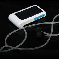 New Portable Solar Power Panel Oxygenator Oxygen Aerator Air Pump For Pool Pond Fish Tank LED