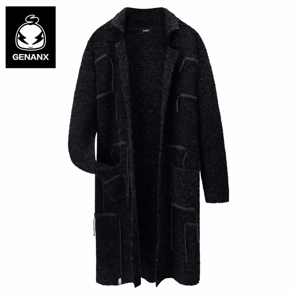 Genanx Brand Men'S Sweater Coat Man Smart Casual Clothing Loose ...