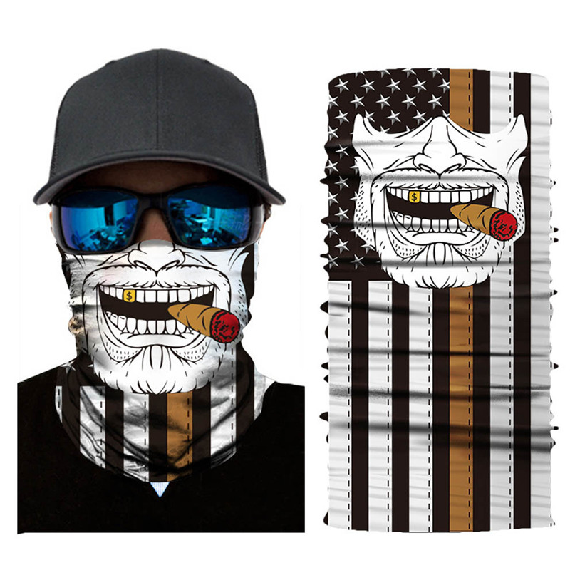 Skull Cycling Snowboard Scarf Collar Neck Warmer Face Mask Bandana Bike Mask Ski Balaclava Headband mask halloween face #3j#F air force skull tubular protective dust mask bandana motorcycle riding polyester scarf face neck warmer mask