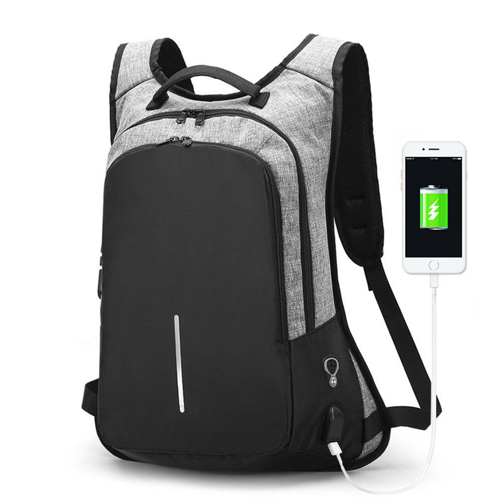 Password Anti-theft Backpack Waterproof Travel Male Backpack USB Charging Men Laptop Backpacks for Teenagers Mochila School Bag logo messi backpacks teenagers school bags backpack women laptop bag men barcelona travel bag mochila bolsas escolar