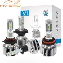 Hviero Super Bright Car Head lights H4 9003 H7 H11 H 72W 8000lm Auto Front Bulb Automobile Headlamp 6500K Lighting Fog Lamp