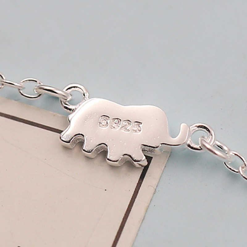 XIYANIKE 925 Sterling Silber Niedlichen Elefanten Design Fashion Charming Kette Für Frauen Halskette Choker halsketten & anhänger VNS8366