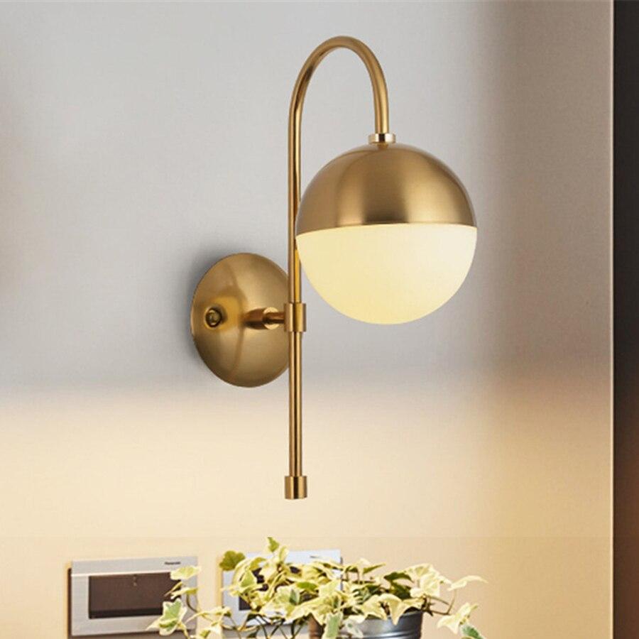 11 Bronze Wall Light Brass Wall Sconce Globe Ball Wall Lights