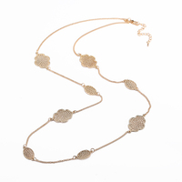 New Fashion Hot Statement Chains Linked Woman Long Necklace Jewelry High Quality Necklace Wholesale Top-rated Free Shipping