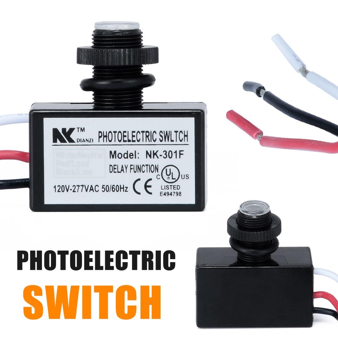 AC80 ~ 277 V Cellule Photoélectrique Interrupteur Encastré Crépuscule à L'aube Contrôle Photo Interrupteur pour LED Lumière Interrupteur