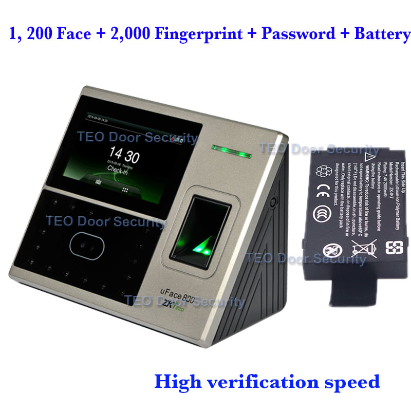 1 200 face and 2 000 fingerprint templates ZKTeco uFace800 BioEntry iFace Face Recognition Machine High