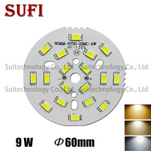 Led-Lamp-Panel Light-Board Ceiling-Light Brightness 10pcs 9W 5730 SMD 60mm for DIY And