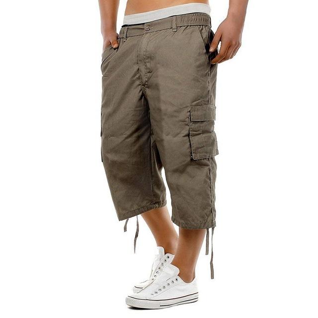 HEFLASHOR New Men Joggers Shorts Summer Mens Multi-pocket Military Cargo Shorts Male Streetwear Overalls Short Pants