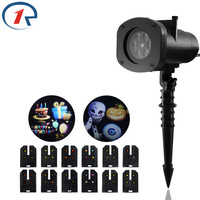 ZjRight LED stage light 12 Patterns Outdoor decor Waterproof Halloween Christmas lights Birthday Party disco bar holiday lights