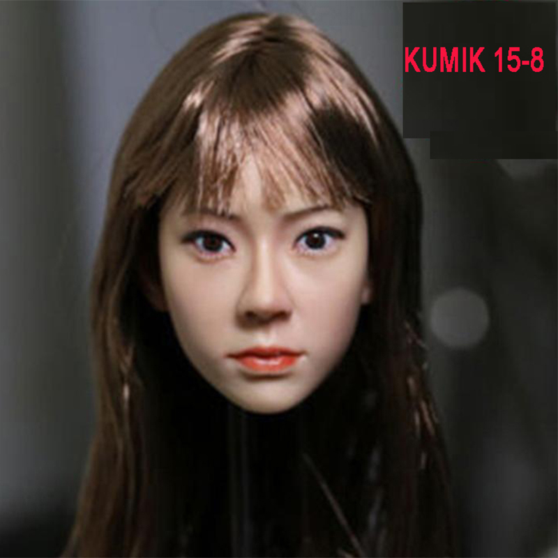 1/6 Head Sculpt KUMIK 15-8 Hot Sideshow Toys TTL Enterbay Custom female Girl Fit 12 Inch Phicen Action Figure Doll Toys b06 08 1 6 scale male head accessories carving sculpt model fit 12 inch phicen action figure doll toys