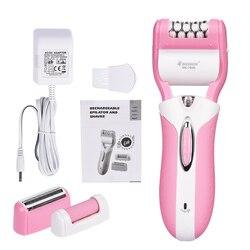 3 In1 recargable mujer de afeitar el pelo de navaja de afeitar de señora de las mujeres trimmer depiladora para cara cuerpo pierna, axilas 47