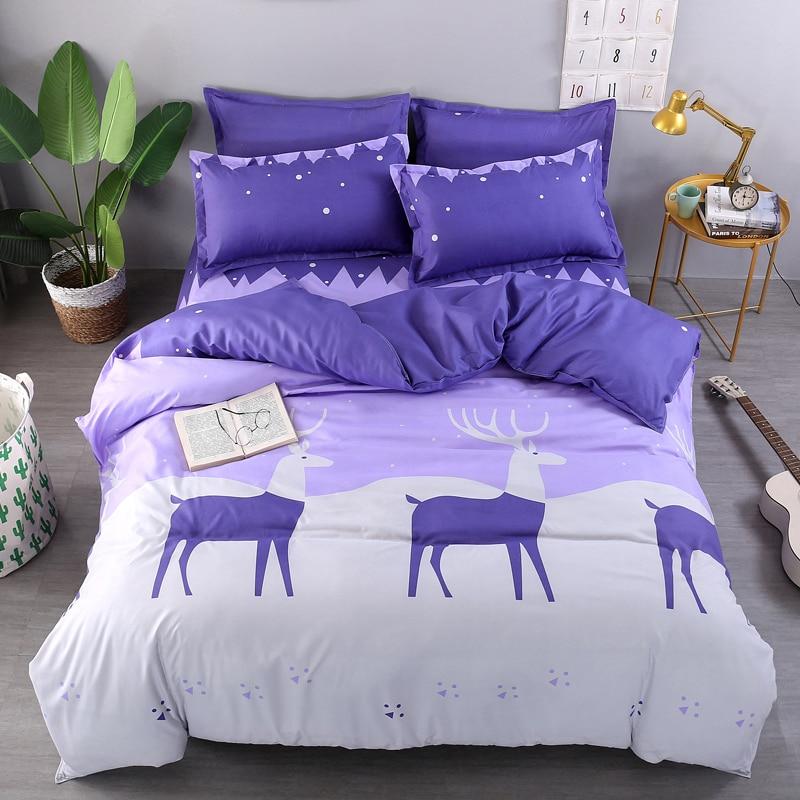 Олень мягких постельных комплектов король, королева полный двойной Размер AB Дизайн подо ...