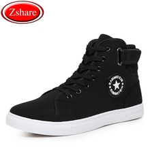 цена summer breathable men casual shoes 2019 spring white black high top sneakers men shoes lace-up canvas shoes zapatillas hombre онлайн в 2017 году