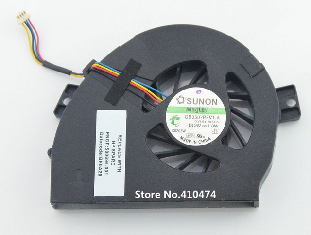 New cpu laptop cooling fan para hp pavilion dm3 dm3-1000 dm3t dm3z laptop ksb0405hb 580696-001 gb0507pfv1-a