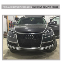 Q7 SQ7 Sline Grille Black Emblem Front Bumper Mesh Radiator Grille For Audi Q7 SQ7 2005