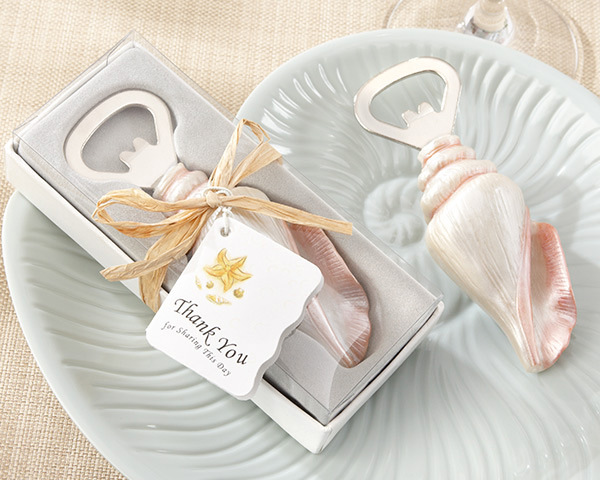 30pcs Unique Beach Wedding favor of Sea Shell Bottle Opener wedding souvenirs