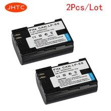 JHTC 2pc  2200mAh LP-E6 LP E6 LP-E6N Camera Battery For Canon EOS 5DS 5D Mark II Mark III 6D 7D 60D 60Da 70D 80D DSLR EOS 5DSR