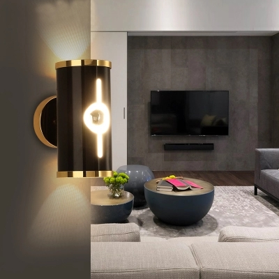 Simple Modern LED Wall Light Fixtures Home Indoor Lighting Creative Aluminum Wall Sconce Alcatraz Island Bedside wall Lamps simple modern led wall lamp reading switch adjust wall light fixtures home fabric shade bedside wall sconce indoor lighting