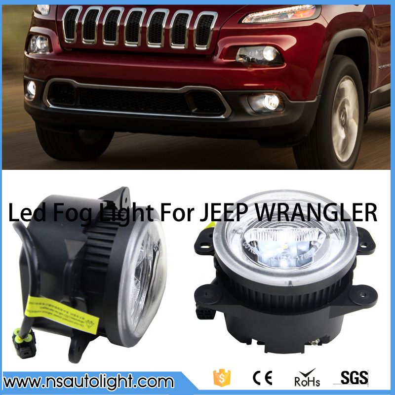 Ultra Bright Round 12V LED DRL Daytime Running Fog Light For JEEP CHEROKEE 14-15 For JEEP GRAND CHEROKEE 11-13 ijdm hid white 15 smd 3535 powered 3157 t25 led bulbs for daytime running lights drl for 2011 and up jeep grand cherokee 6000k