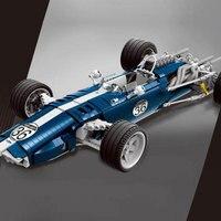 DHL 1758 шт. синий F1 гоночный автомобиль комплект строительные блоки кирпичи веселые развивающие игрушки Совместимость legoings техника подарок д