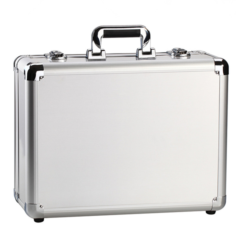 Сумка, чемодан для женщин и мужчин, дорожная сумка, утолщенная, алюминиевый сплав, для ноутбука, большой ящик для инструментов/с замком, коро...