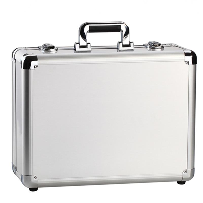 Kundui чемодан женщины мужчины Дорожная сумка утолщение алюминиевого сплава ноутбук большой Toolbox/запирающийся Дисплей коробка портфель
