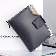 купить Fashion brand wallet men leather men wallets purse short male clutch leather wallet mens money bag quality guarantee по цене 385.58 рублей