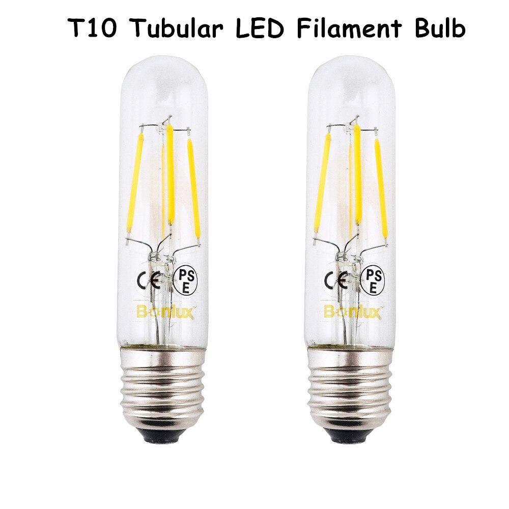 E26 Dipimpin Lampu Bohlam T10 4 W Filamen Panjang Tubular 110 Bulb Led Philips 5 5w Watt 5watt V 220 Pijar Tabung Cahaya 2700 K Hangat Putih Daylight 6000 Di