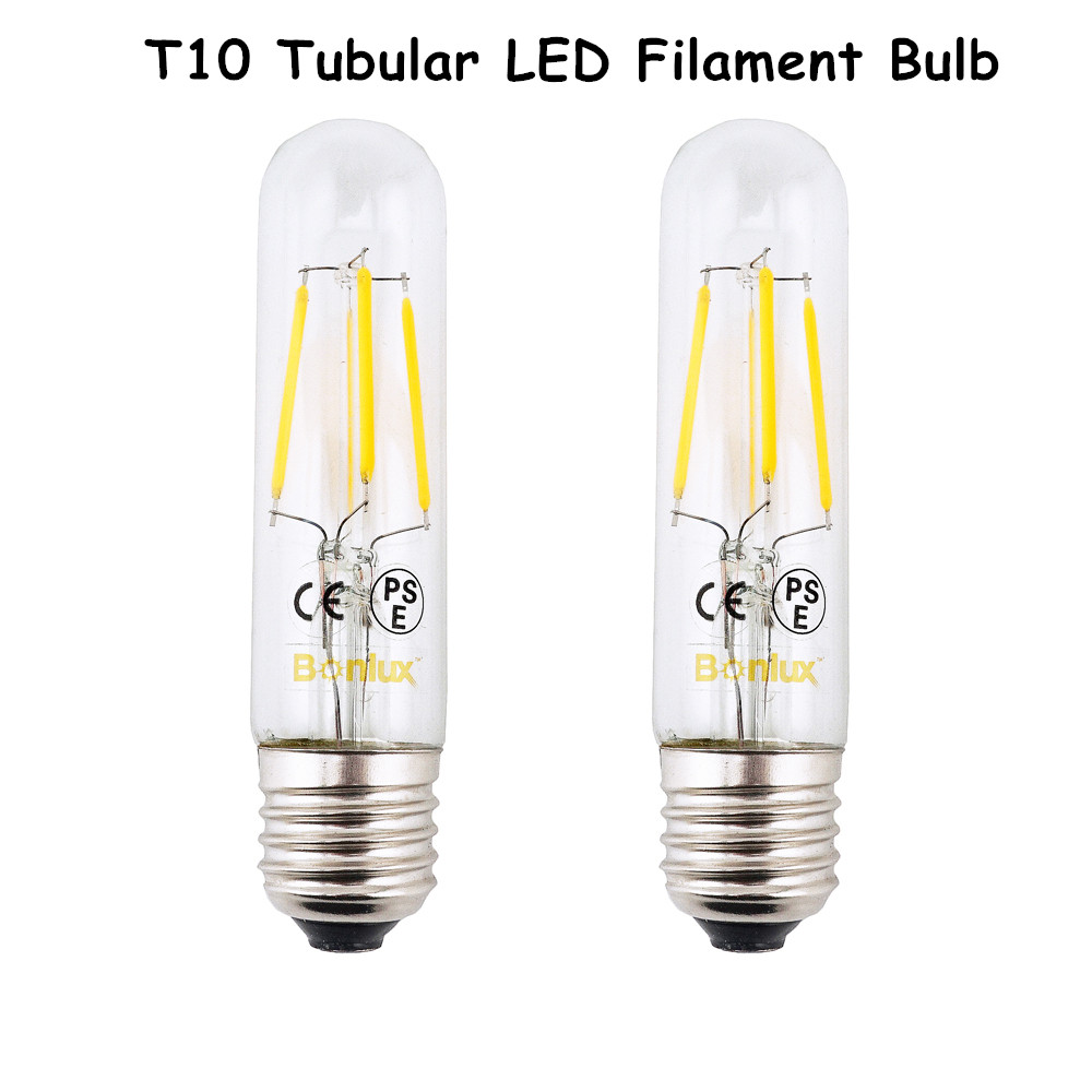 e26 led chandelier bulb t10 4w long tubular filament lamp 110v 220v tube light 2700k