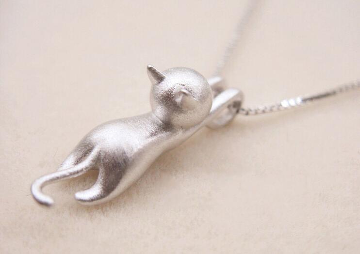 Jisensp Новое поступление посеребренные странно фантазии Цепочки и ожерелья крошечные милые животные Kitty Cat Ожерелья и подвески для Для женщин SYXL004