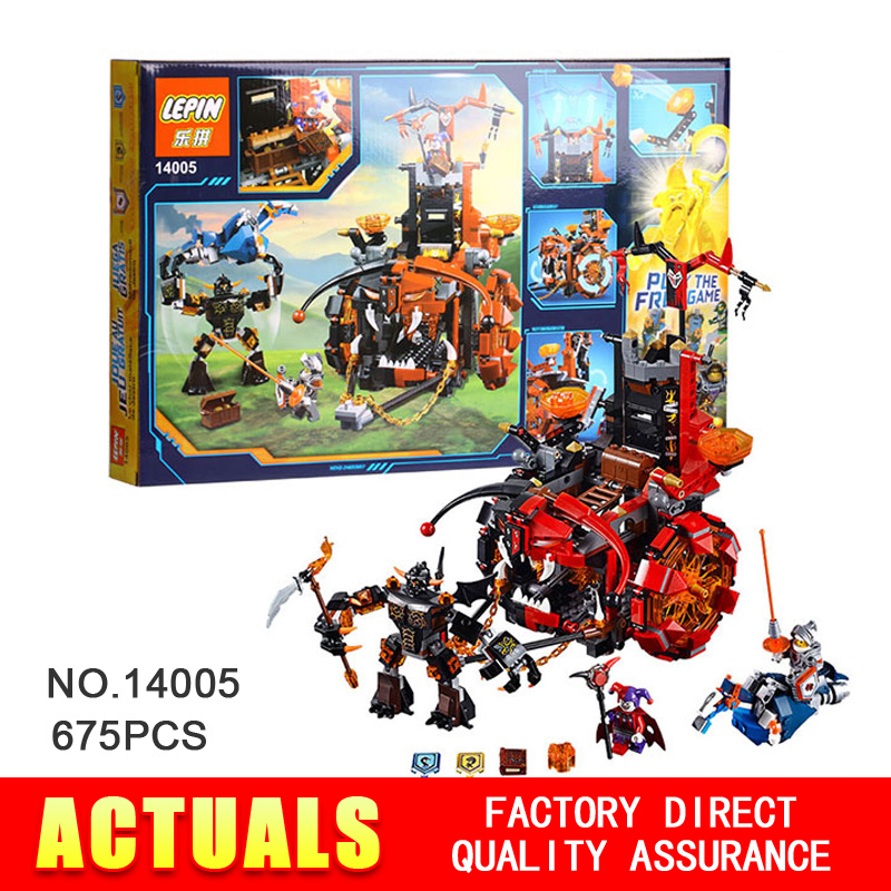 LEPIN 14005 Nexo Knights Jestro's Evil Mobile Combination Marvel Building Blocks Kits Toys mini figure Compatible Nexus Gifts