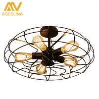 American Country Ceiling Lights Industry Creative Personality Retro Ceiling Lamp Balcony Continental Vintage Designers Lights